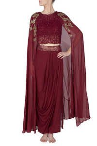 Maroon Cape Croppers