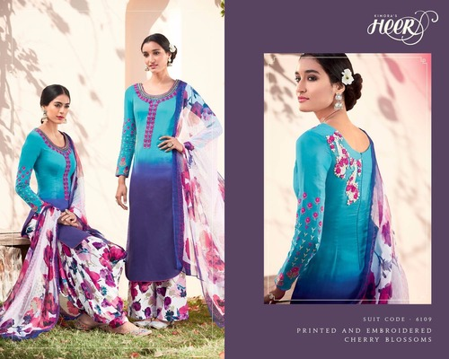 HEER 12 Cotton Embroidery Suits