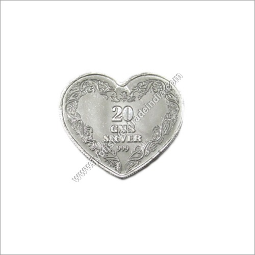 Silver Coins Heart Shape 20gm