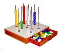 COUNTING & COLOUR SORTING BEADS SET