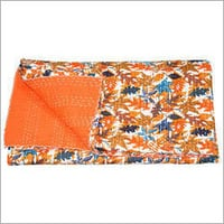 Rajasthani Kantha Work Cotton Bedspread