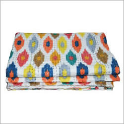 Ikat Printed Bed Cover