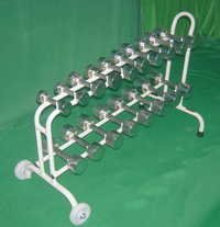 DUMBBELLS SET (Chrome Plated, 54kg. Set With Cart)