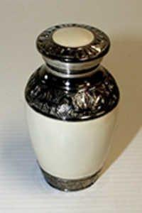 Enamel Silver Cremation Urns design
