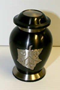 Leaf Brass Keepsake Urn