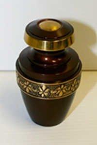 Red Brass Keepsake Urn