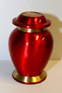 Red Keepsake Memorial Urn