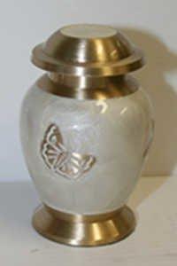 Butterfly Brass Keepsake Urn