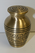 Roman V Brass Metal Token Cremation Urn