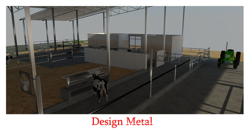 Prefabricated Steel Structure Dairy Farm Sheds