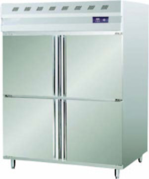 SS 4 Door Vertical Freezer