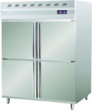 SS 4 Door Vertical Freezer