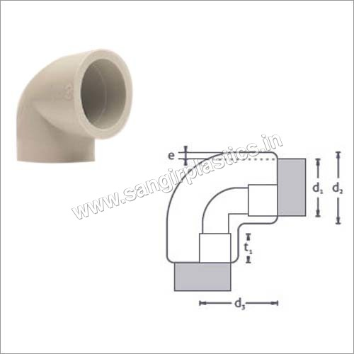 PP Molded Elbow 90 deg