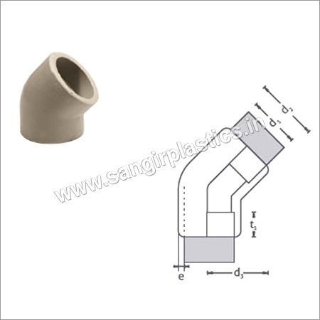 PP Moulded Bends 45 Degree