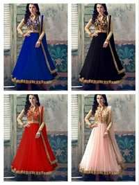 QUEEN Georgette Embroidery Anarkali Suits