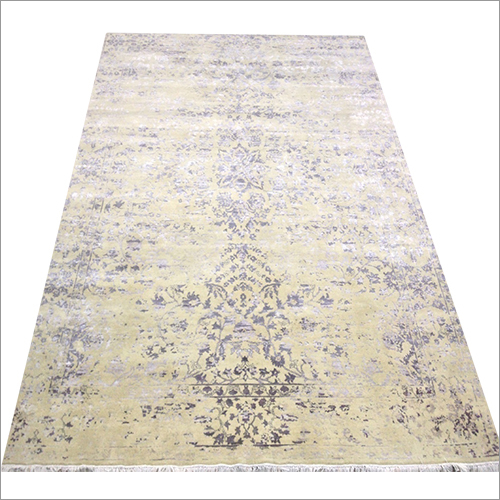 Cream-Grey Hand Knotted Contemporary Collection