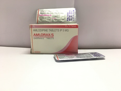 Amlodipine 5 mg Tablet (AMLORAX-5)