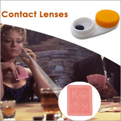 Invisible Playing Cards Contact Lenses
