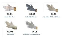 Copper Fibre (PU Coated) Gloves