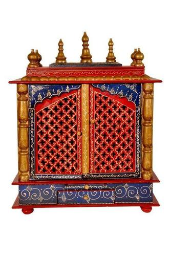 Hand Painted Wooden Temple