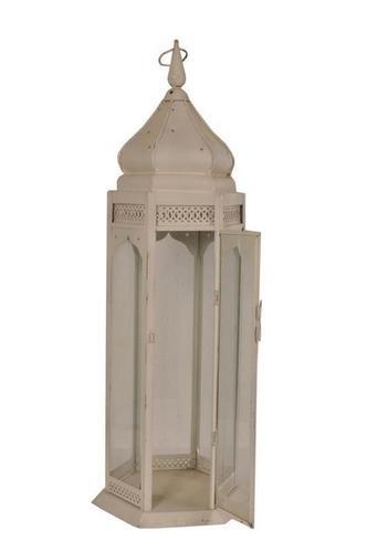 White Painted Iron Lamp