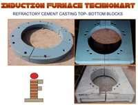 REFRACTORY CEMENT CASTING TOP- BOTTOM BLOCKS