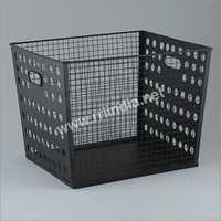 Iron & Powder Coated Vintage Storage Basket