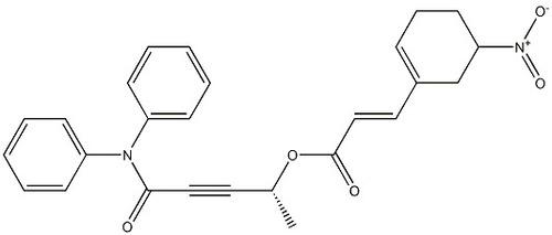 (2E)-3-(5-Nitro-1-cyclohexen-1-yl)-2-propenoic aci