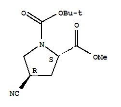 (2S,4S)-4-Cyano-1,2-pyrrolidinedicarboxylic acid 1