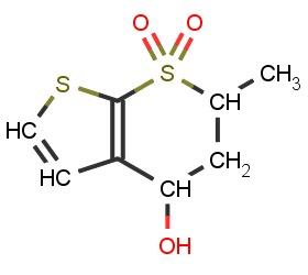 (4S,6S)-4H-Thieno[2,3-b]-thiopyran-4-ol-5,6-dihydr