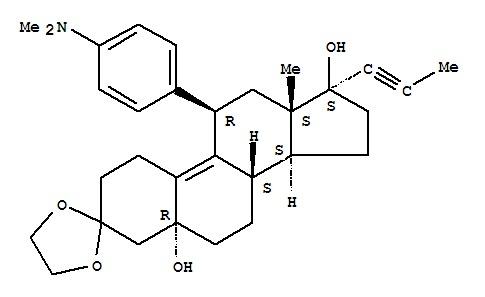 (5alpha,11beta)-11-[4-(Dimethylamino)phenyl]-5,17-
