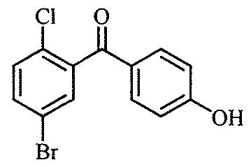 (5-bromo-2-chlorophenyl)(4-hydroxyphenyl)methanone