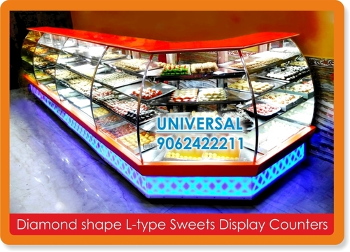 L Type Sweet Display Counters
