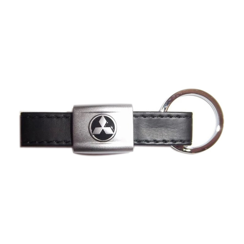 Metal And Leather Key Chain
