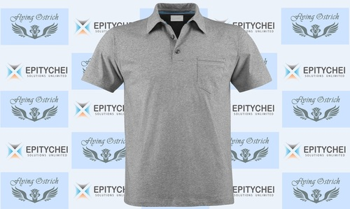 Polo Tshirt - Grey Melange
