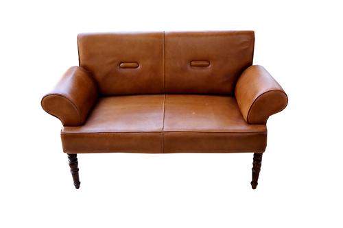 Leather 2 Seater Sofa