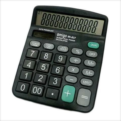 Amigo MI 837 Black Calculator