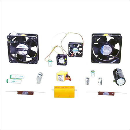 Fans, Lithium Batteries Capacitors and Fuses