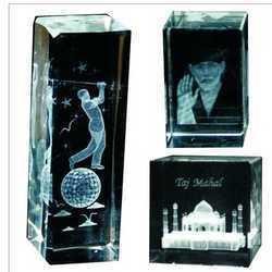 Engraved Crystal Trophy