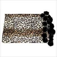 Printed Pashmina Shawls With Fur Balls