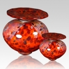 The Milano Red Glass Cremation Urn