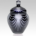 The Trinity Black Crystal Cremation Urn