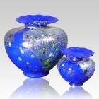 The Milano Bluetonia Glass Cremation Urn