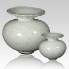 The Milano Verdigris Glass Cremation Urn
