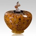 The Como Verdigris Art Glass Cremation Urn