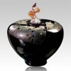The Como Blackolodas Art Glass Cremation Urn
