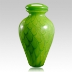 The Green Wishing Star Glass Cremation Urn