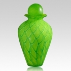 The Shining Green Glass Cremation Urn
