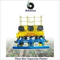 Three row Sugarcane planter