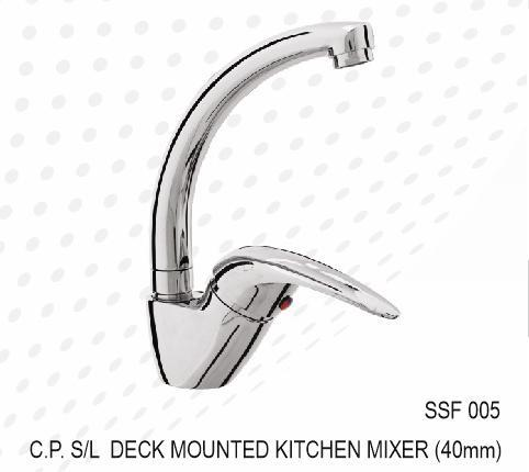 C.P. S/L DECK MOUNTED KITCHEN MIXER (40MM)